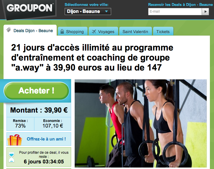 Groupon et a.way